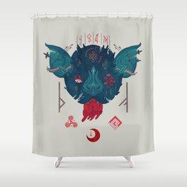 Runic Bat Shower Curtain