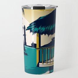 aruba vintage travel poster Travel Mug