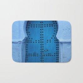 Exotic Blue Door in Morocco Bath Mat