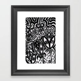 Flowers in the Rain Forest. Framed Art Print