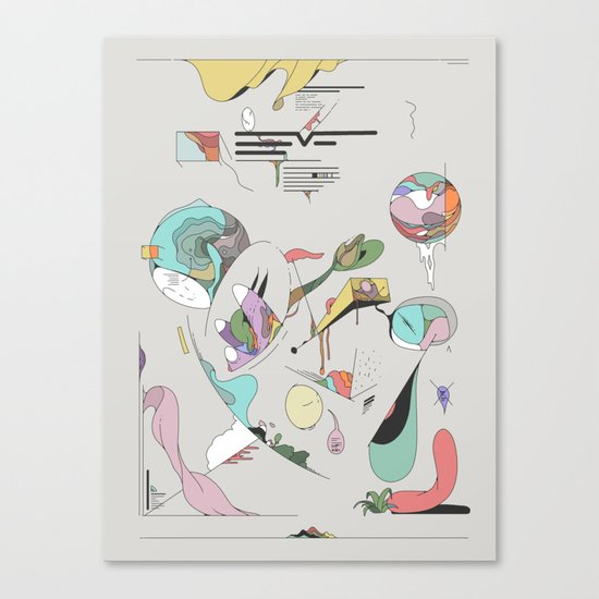 Data for the End Canvas Print