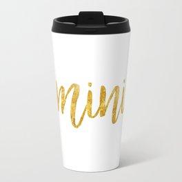Golden Feminist Travel Mug