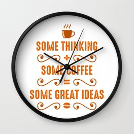 Coffee and Thinking Combination Wall Clock