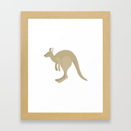 crazy kangaroos Framed Art Print