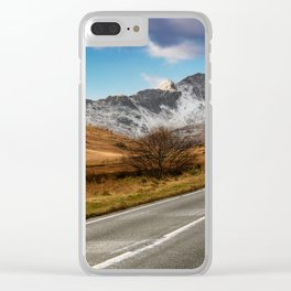 Wnter Scenery Snowdonia Clear iPhone Case