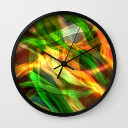 Abstract Shiny Night Lights 24 Wall Clock