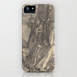 Albrecht Durer Melencolia I - melancholia engraving 1514 iPhone Case
