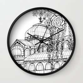 Conservatory of succulent - Black Wall Clock
