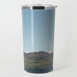 Blue reflections of mountains Travel Mug