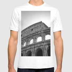 Coliseum Roma. Italy 72 Mens Fitted Tee White MEDIUM