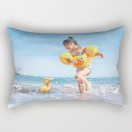 Ducks on the Beach Rectangular Pillow