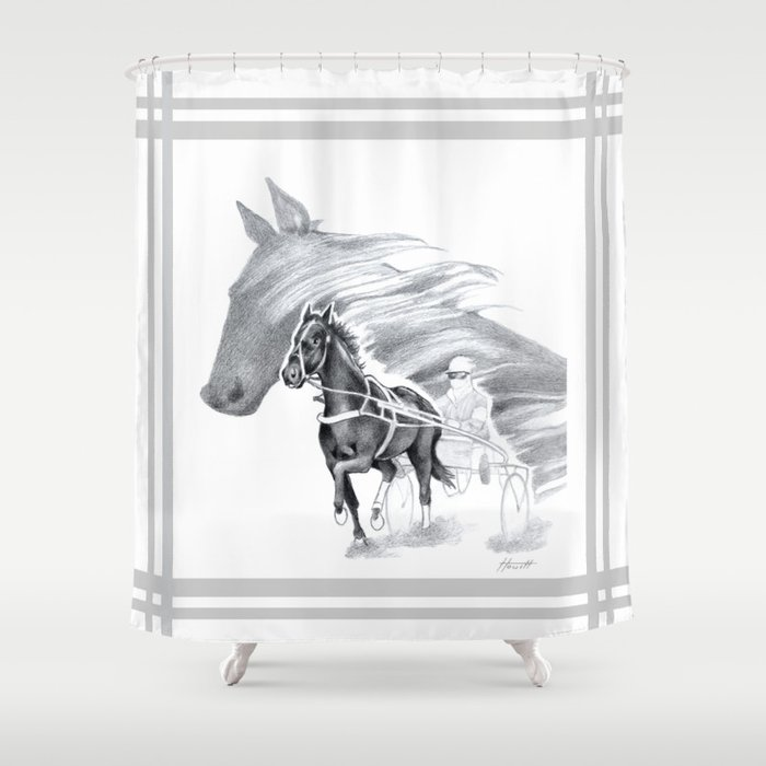 Trotting Up A Storm Shower Curtain