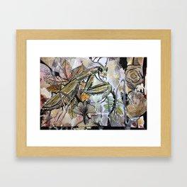 Peace, mantis Framed Art Print