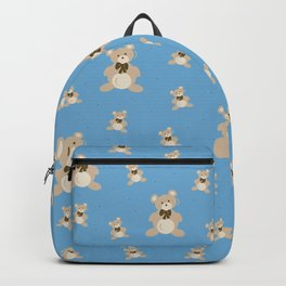 Teddy Bears - Blue Backpack