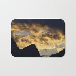 Mountain Sunset Bath Mat