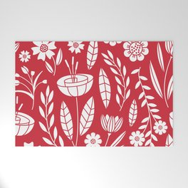 Blooming field - red Welcome Mat