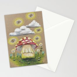 Magical Mushroom Stationery Cards
