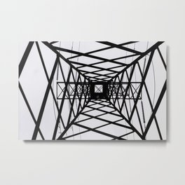 metal structure Metal Print