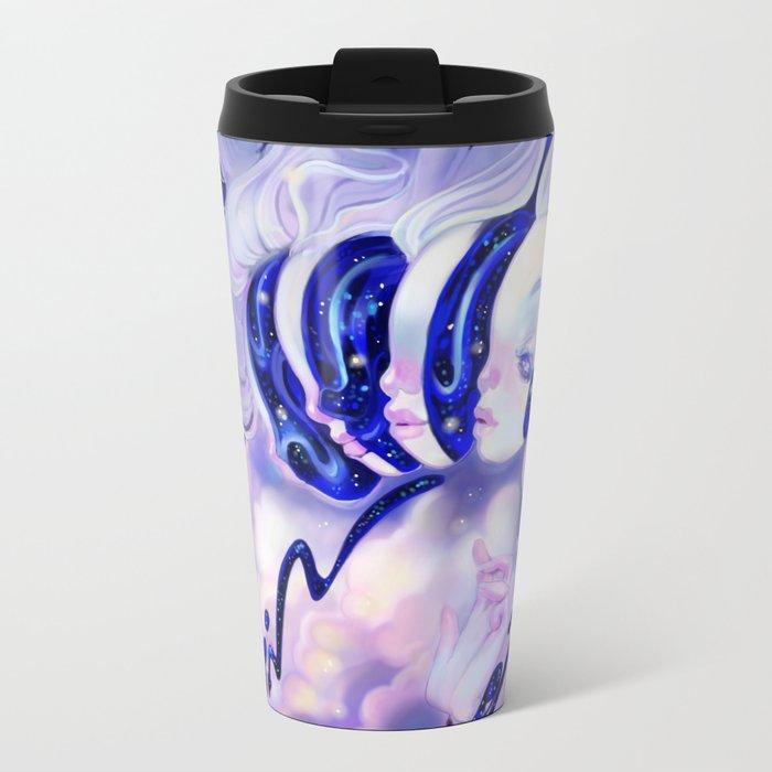Moon Faces Metal Travel Mug