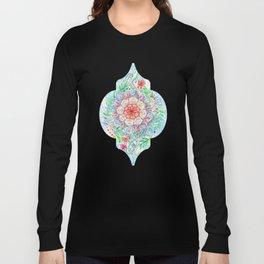 Messy Boho Floral in Rainbow Hues Long Sleeve T-shirt
