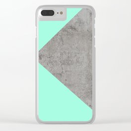 Sea Collage on Concrete Clear iPhone Case