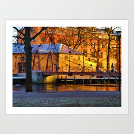 Sunshine And Shadows On A Winter Day Art Print