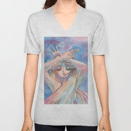 Eternal Shine Sailor Moon Make Up Unisex V-Neck