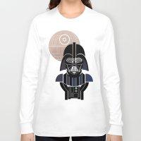 starwars Long Sleeve T-shirts featuring StarWars Darth Vader by Joshua A. Biron