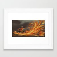 aang Framed Art Prints featuring Avatar Aang by Zack Coleman