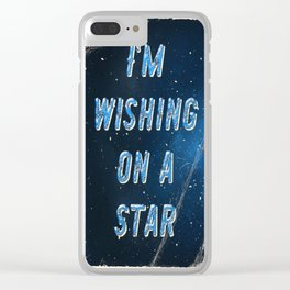 I'm wishing on a Star - 50 Years Moonlanding Clear iPhone Case