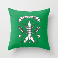tintin Throw Pillows featuring Seal Of Calculus by M. Gulin