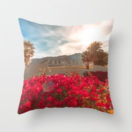 Palm Springs Sign Throw Pillow
