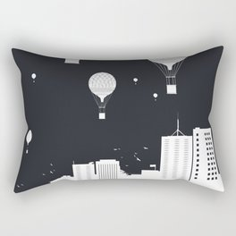 Balloons and the city (dark version) Rectangular Pillow
