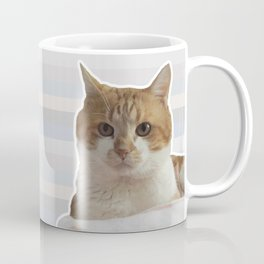 Red cat on a striped background. Coffee Mug