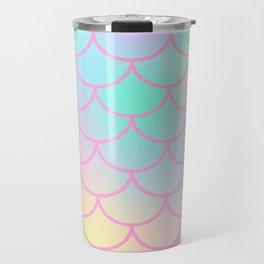 Pink Watercolor Mermaid Travel Mug