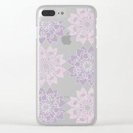 Butterfly flower pattern Clear iPhone Case