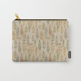 Vintage Feathers Tribal Carry-All Pouch