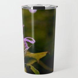 Purpe Bloomig Wild FLower Travel Mug