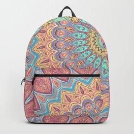 Jewel Mandala Faded - Mandala Design Backpack