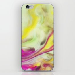 Magnolia Watercolor Abstraction Painting iPhone Skin