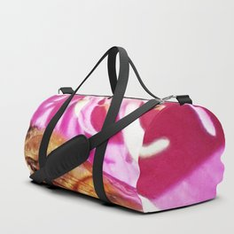 The Flower and the Bee in Pink Duffle Bag