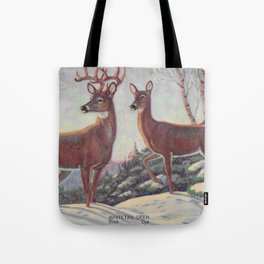 white tails | bucks & does | oh deer Tote Bag