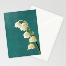 Botanical Flower Photograph - Lilies of the Valley Stationery Cards