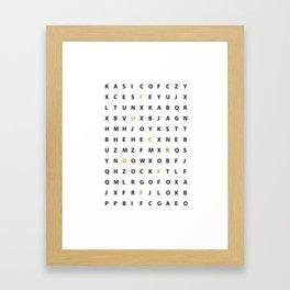 Wanna Hear A Secret Framed Art Print