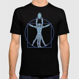 Vitruvian Tron T-shirt