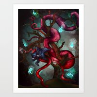 soul eater Art Prints featuring Soul eater Tree by Sampsonknight