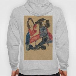 """Egon Schiele """"Zwei Mädchen (Two girls)"""" Hoody"""