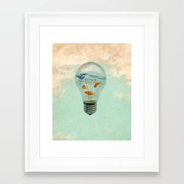 ideas and goldfish 02 Framed Art Print