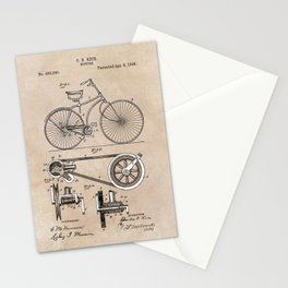 patent Bicycle 1890 Rice Stationery Cards