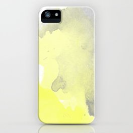 Yellow and Gray Ombre Watercolor  iPhone Case